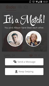 screenshot of Tinder version Varies with device