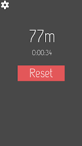screenshot of Traveled distance measure with GPS very simple version 0.6