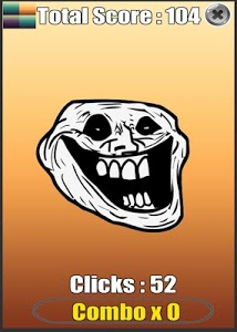 screenshot of Troll Face Meme Clicker version 1.1