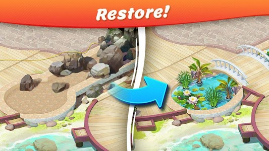 screenshot of Tropical Forest: Match 3 Story version 2.0.3