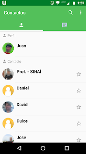 screenshot of UTEL Messenger version 1.1