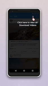 screenshot of Video Downloader for Facebook version 2.4
