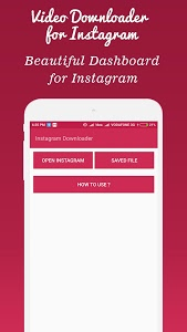 screenshot of Video Downloader for Instagram version 1.0.29