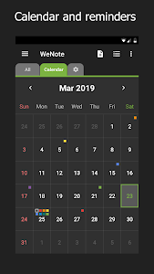 screenshot of WeNote - Color Notes, To-do, Reminders & Calendar version 1.82