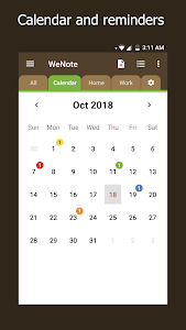 screenshot of WeNote - Color Notes, To-do, Reminders & Calendar version 1.12