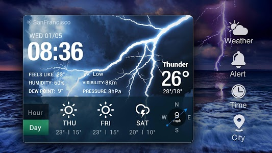 screenshot of Weather Forecast Widget with Battery and Clock version 16.6.0.47718