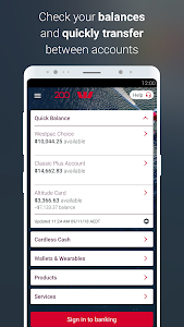 screenshot of Westpac Mobile Banking version Varies with device