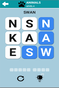 screenshot of Word Search Pro version 1.0