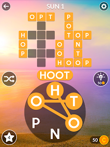screenshot of Wordscapes version 1.0.47