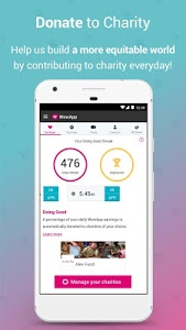 screenshot of WowApp - Earn. Share. Do Good version Varies with device