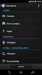 screenshot of Xperia™ Diagnostics version 1.02.47