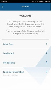 screenshot of YES BANK version 4.1