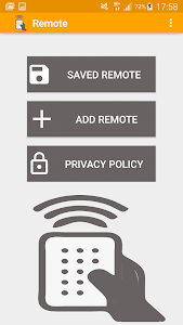 screenshot of solid set top box remote version 1.0